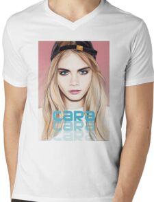 Cara Delevingne pencil portrait 2 Mens V-Neck T-Shirt
