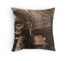 Girl With Broken Chain Throw Pillow