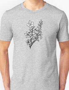 Cherry Blossoms Black & White  Unisex T-Shirt