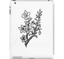 Cherry Blossoms Black & White  iPad Case/Skin
