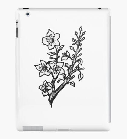 Cherry Blossoms Black & White  iPad Case/Skin