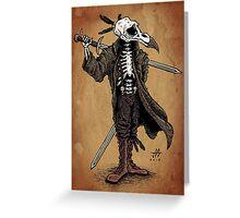 Raven Skull Greeting Card