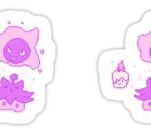 Pixel Ghost Pokemon Sticker