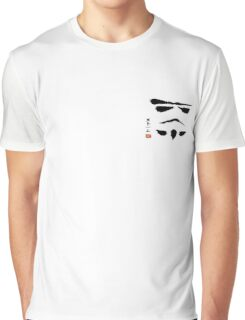 Storm Trooper Brush Stroke Graphic T-Shirt