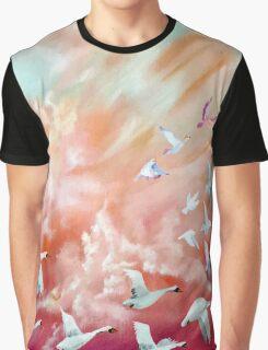 100 Birds in flight (1) Graphic T-Shirt
