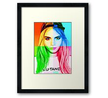 Cara Delevingne pencil portrait 3 Framed Print
