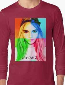 Cara Delevingne pencil portrait 3 Long Sleeve T-Shirt