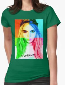 Cara Delevingne pencil portrait 3 Womens Fitted T-Shirt