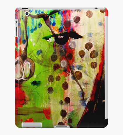 Berry Blossoms with Face  iPad Case/Skin