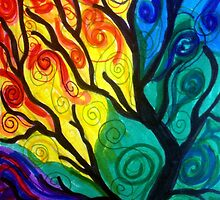 Colorful Tree by ewhite3