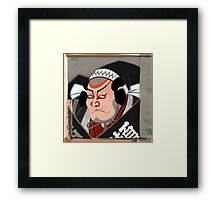 Kabuki Actor Japanese Woodcut Framed Print