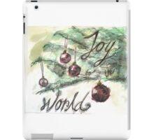 Joy To the World Watercolor iPad Case/Skin