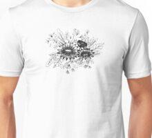 Daisies Black and White Unisex T-Shirt