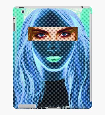 Cara Delevingne pencil portrait 5 iPad Case/Skin
