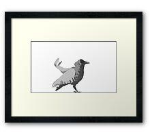 Crow Pose Framed Print