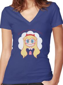 Star vs the forces of evil Women's Fitted V-Neck T-Shirt