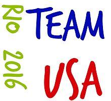 Rio 2016 Team USA.  by silviasunflower