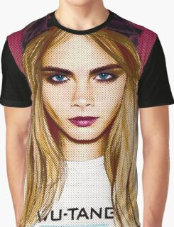 Cara Delevingne pencil portrait 4 Graphic T-Shirt