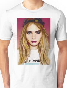 Cara Delevingne pencil portrait 4 Unisex T-Shirt