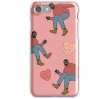 Drake Valentine (pink background) iPhone Case/Skin