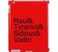Darth & Darth & Darth & Darth iPad Case/Skin