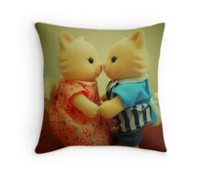 Sylvanian Families ~ Cats in Love Throw Pillow