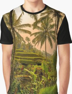 Rice Terraces in Bali at Sunset Graphic T-Shirt