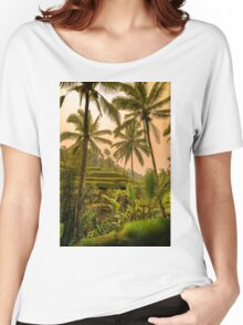 Rice Terraces in Bali at Sunset Women's Relaxed Fit T-Shirt