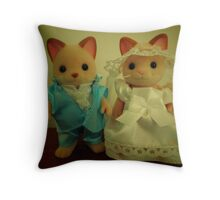 Sylvanian Families ~ Cat Wedding Bride and Groom Throw Pillow