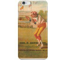 "Vintage Baseball Card ""Fly"" iPhone Case/Skin"