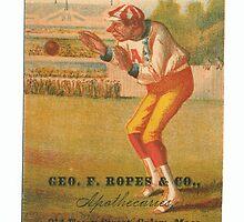 "Vintage Baseball Card ""Fly"" by reddkaiman"