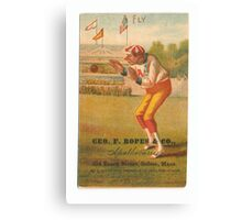 "Vintage Baseball Card ""Fly"" Canvas Print"