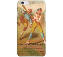 "Vintage Baseball Card ""Foul""  iPhone Case/Skin"