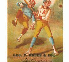 "Vintage Baseball Card ""Foul""  by reddkaiman"