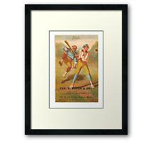 "Vintage Baseball Card ""Foul""  Framed Print"