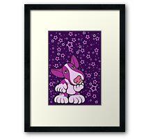 Pondering English Bull Terrier Pinks Framed Print