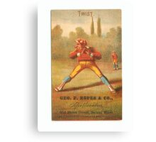 "Vintage Baseball Card ""Twist"" Canvas Print"