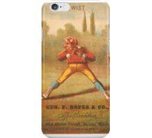 "Vintage Baseball Card ""Twist"" iPhone Case/Skin"