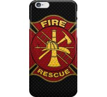 Firefighter Diamond Plate Design iPhone Case/Skin