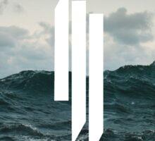 Skrillex logo ocean Sticker