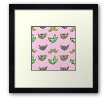"""Oro?"" Cactus Pink Framed Print"