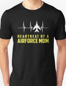 Heartbeat Of A Airforce Mom T-Shirt