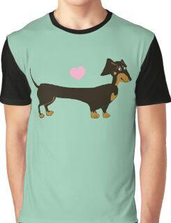 Minty Dog - Dachshund Sausage Dog Graphic T-Shirt