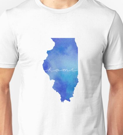 Illinois watercolor home Unisex T-Shirt