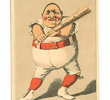 """Vintage Baseball Card """"Put it there!""""  by reddkaiman"""