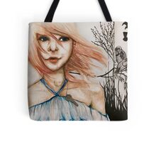 Girl with key Tote Bag