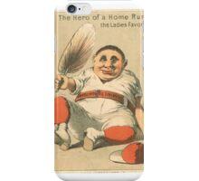 "Vintage Baseball Card ""The Ladies Favorite""  iPhone Case/Skin"