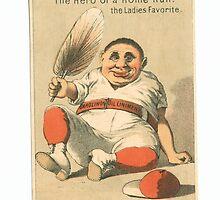 """Vintage Baseball Card """"The Ladies Favorite""""  by reddkaiman"""