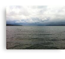 Cloudy Seascape Canvas Print