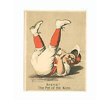 "Vintage Baseball Card ""The Pet of the Nine"" Photographic Print"